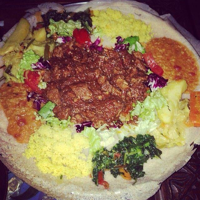 African dinner. Zighini