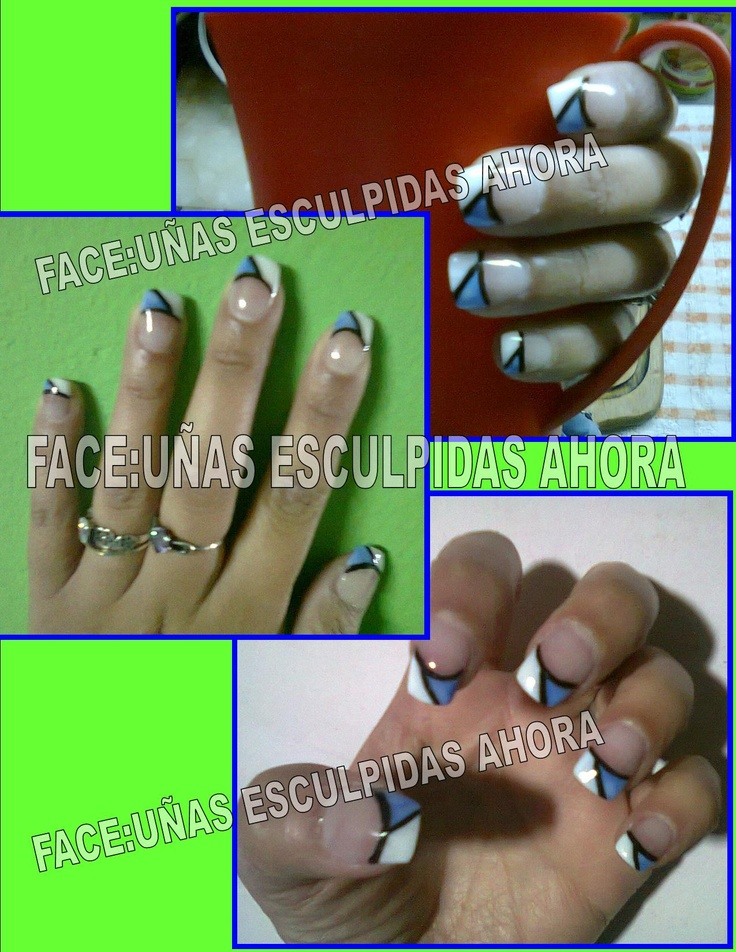 57 best Uñas francés images on Pinterest | French nails, French ...