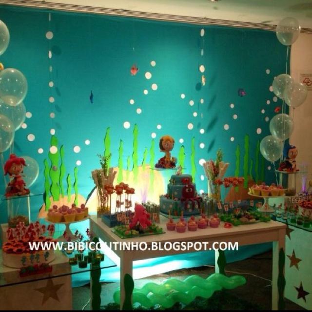 Festa Infantil princesas do Mar!  Www.bibicoutinho.blogspot.com