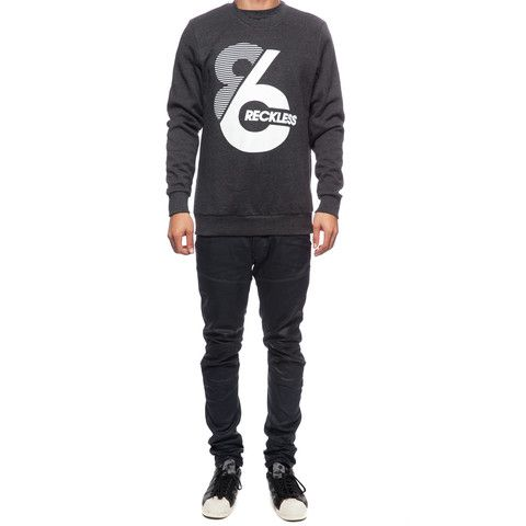 Sixer Integer, , Men's Crew Neck Pullover, Young And Reckless, Young And Reckless - 2
