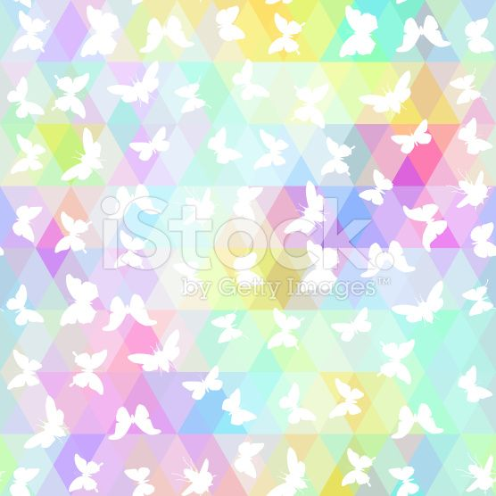 butterflies, cicada  colored rhombus. Geometric background. Seamless pattern black rainbow royalty-free stock vector art