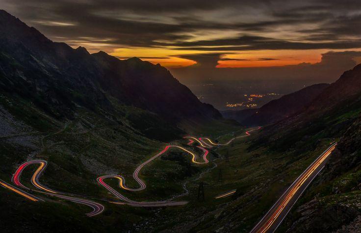 Highway through Sunset by Adam Freundlich on 500px