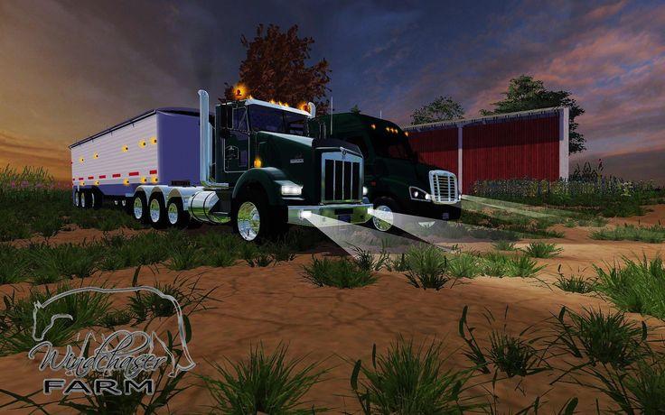farming simulator 2015 mr 2014 kenworth t800 trucks my. Black Bedroom Furniture Sets. Home Design Ideas