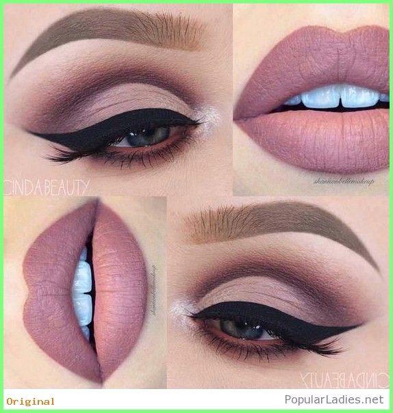 50+ Make Up – Nackte Augen Make-up, nackte Lippen, perfekte Kombination  #eyemakeuptips #Hall…