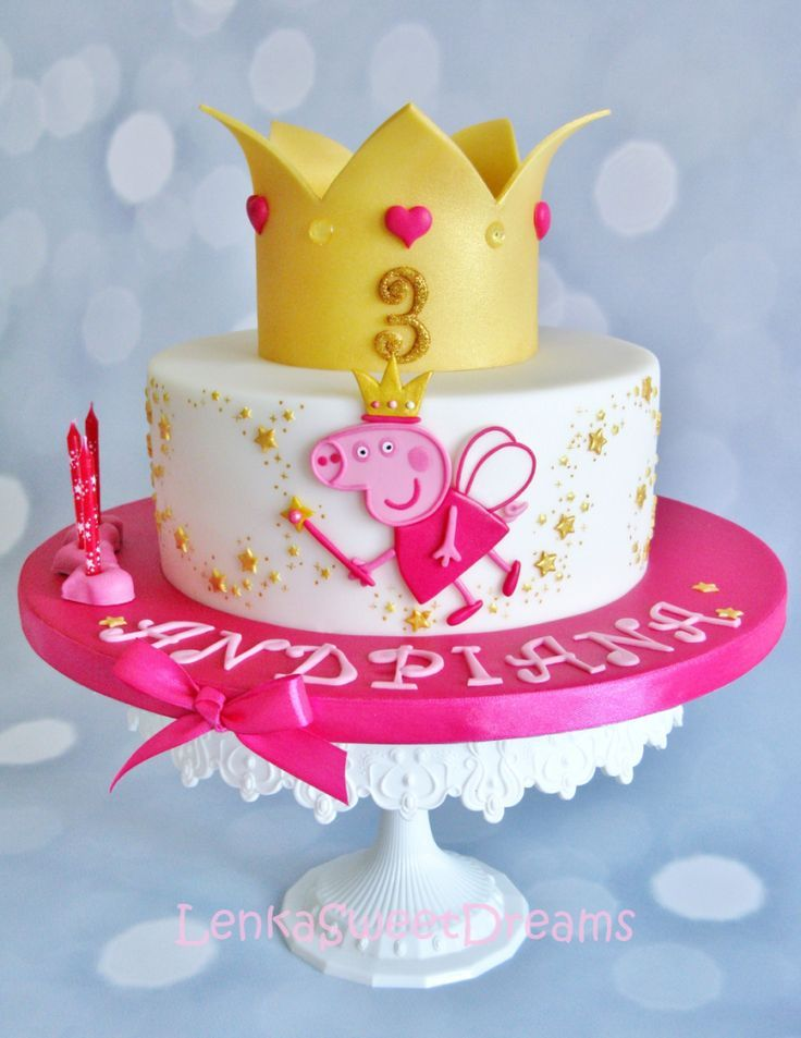 Peppa Pig Cake Ideas - Fairy Cake Birthday Party Cake, Peppa Pig, George Pig, Daddy Pig, Mummy Pig, Peppa House, Muddy Puddle, Red Car, Dinosaur