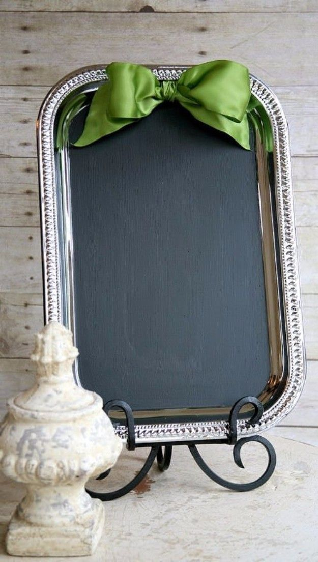 Easy Crafts To Make and Sell - Easy Tray Chalkboard - Cool Homemade Craft Projects You Can Sell On Etsy, at Craft Fairs, Online and in Stores. Quick and Cheap DIY Ideas that Adults and Even Teens Can Make http://diyjoy.com/easy-crafts-to-make-and-sell