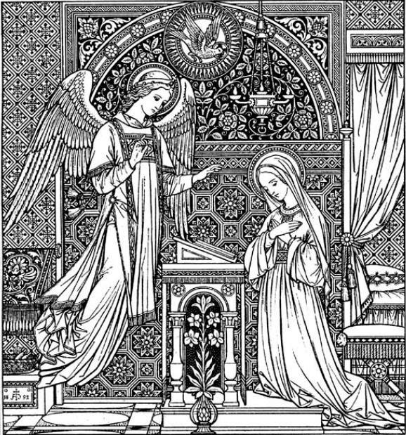 The annuciation · catholic craftscatholic artreligious