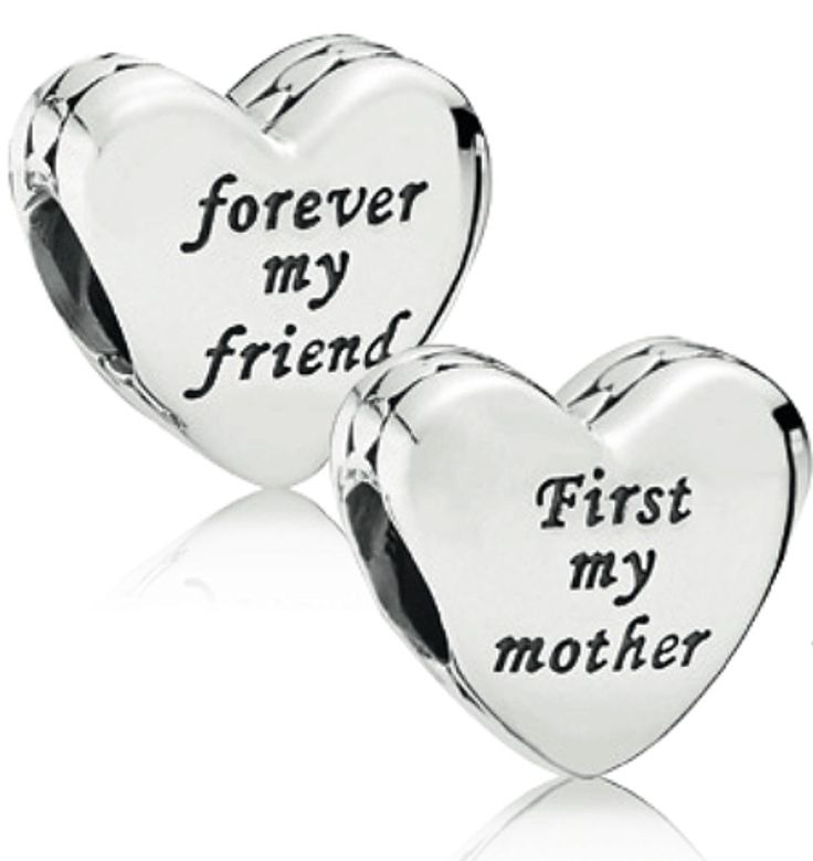 """""""First My Mother, Forever My Friend"""" Pandora Charm from Angie"""