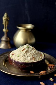 panjiri recipe, a nutritious Indian sweet made with whole wheat flour, semolina & dry fruits served to new mothers after delivery and kids #nutritious #indianfood #dessert