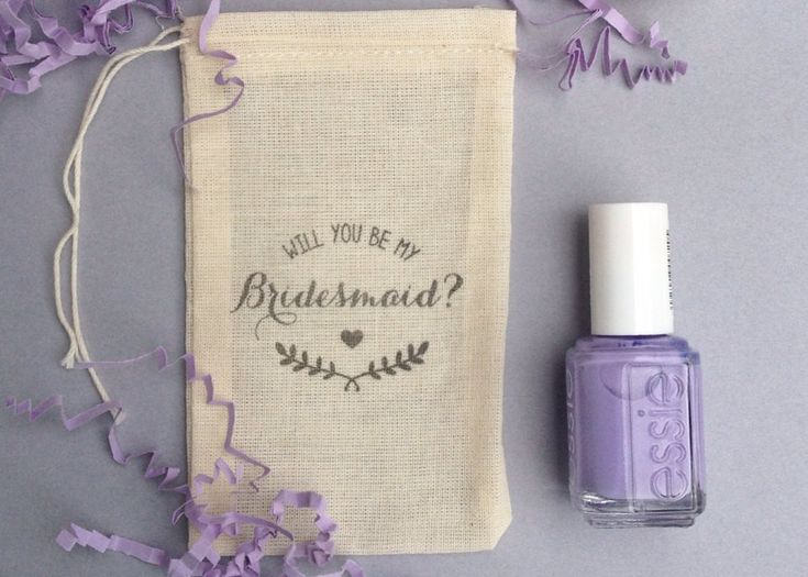 A rustic 'will you be my bridesmaid?' bag. | The Ultimate List of Bridesmaid Proposal Ideas - 25 Creative Ways to ask Your Bridesmaids