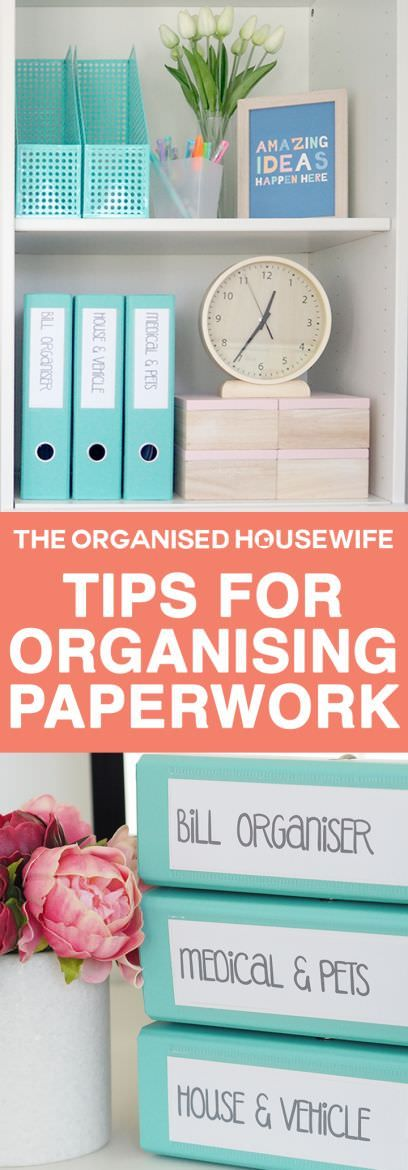 Have a home office? This system for organizing the finances and filing will help a lot in keeping all your bills and other paperwork ordered and tidy.