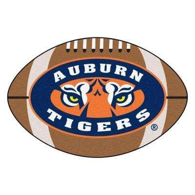 NCAA Auburn University Tigers Logo Brown 1 ft. 10 in. x 2 ft. 11 in. Specialty Accent Rug