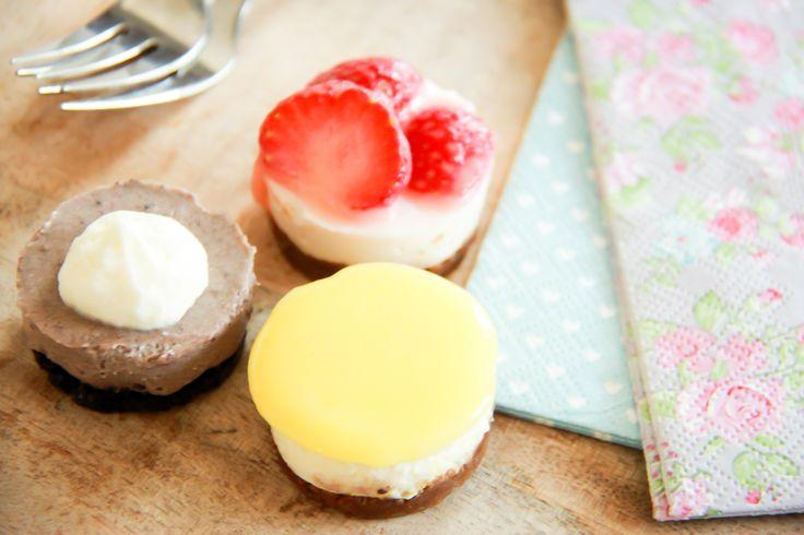 Mini no-bake taartjes of cheesecakejes van monchou: een originele maar heerlijke traktatie met tal van variaties!