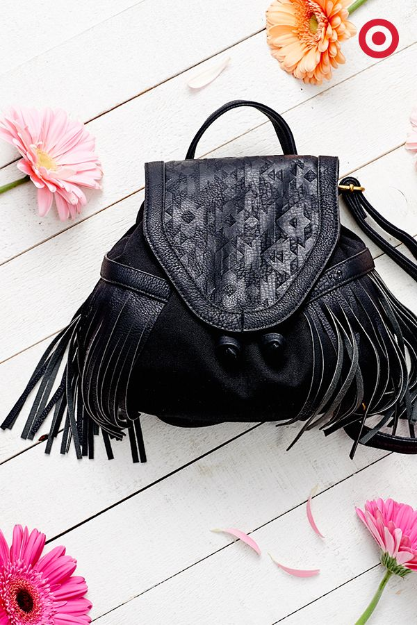 This fringe bag is a total two-for-one. Whether you're headed to a music fest or out for a Sunday stroll, it's so easy to throw this on as a backpack or carry it along as a handbag and complete the look.