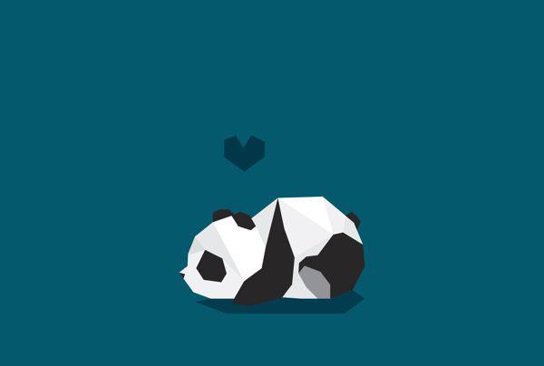 Panda by Verónica De Fazio, via Behance