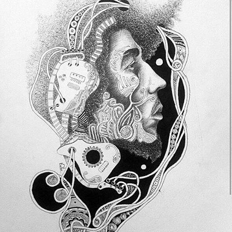#Art #Sketch #Drawing #Illustration #Pen #Ink  #BobMarley #Reggae #Rasta #Music #Jamaica ARTIST : @samir2art112 #ArtmanVibration #Sudan #BlackArt #BlackArtist  #RandomMishaness #MishaLi777 #DailyArtInspiration ♡ #ArtLife