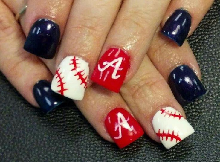 Atlanta Braves Nails - 555 Best Sports Nails Images On Pinterest Baseball Nail Designs