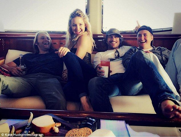 All aboard! On Saturday, Kate  shared a snap of herself with brothers Wyatt Russell, 29, ...
