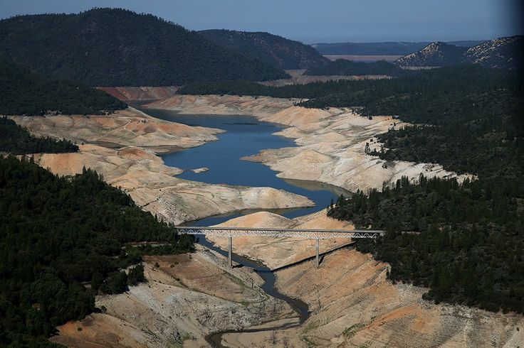 Lake Oroville water levels  http://www.mnn.com/earth-matters/wilderness-resources/blogs/how-extensive-is-californias-drought-compare-the-photos