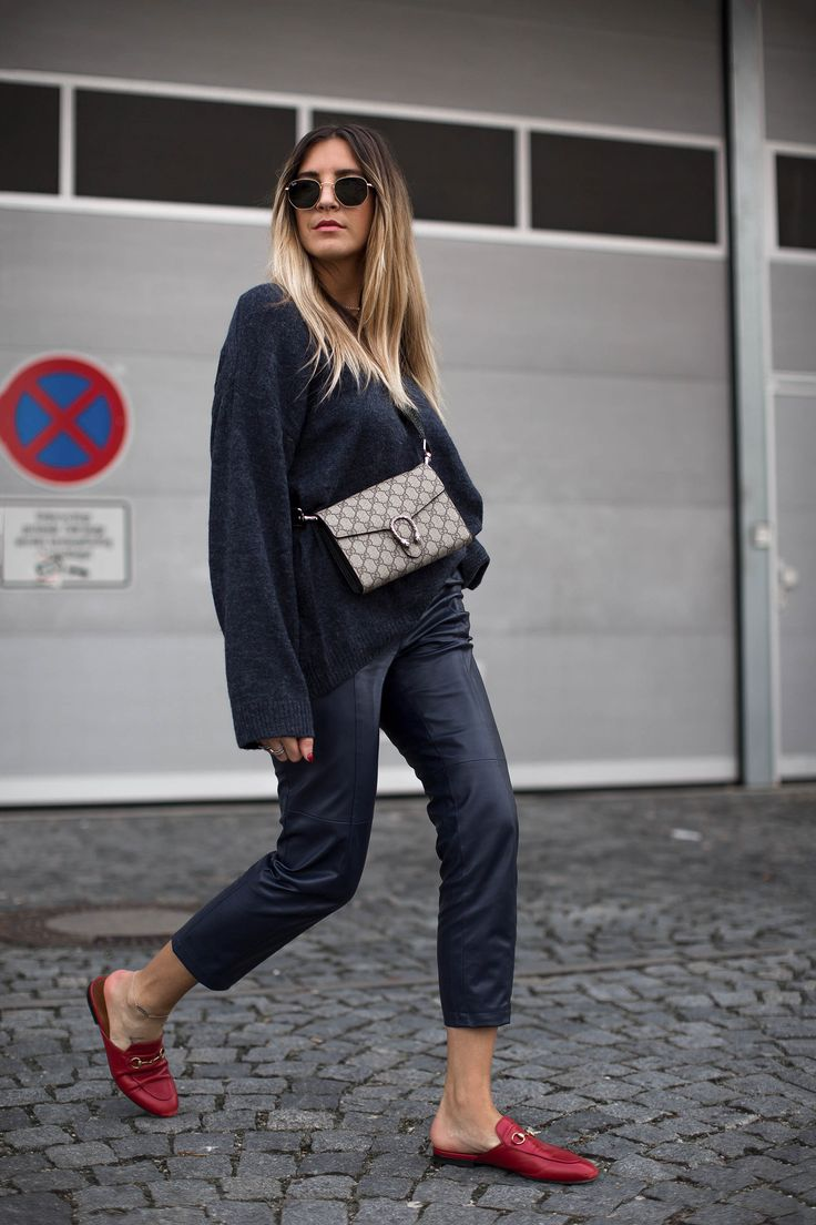 black-palms-hm-faux-leather-pants-lederhose-fashionblog-gucci-slipper-4