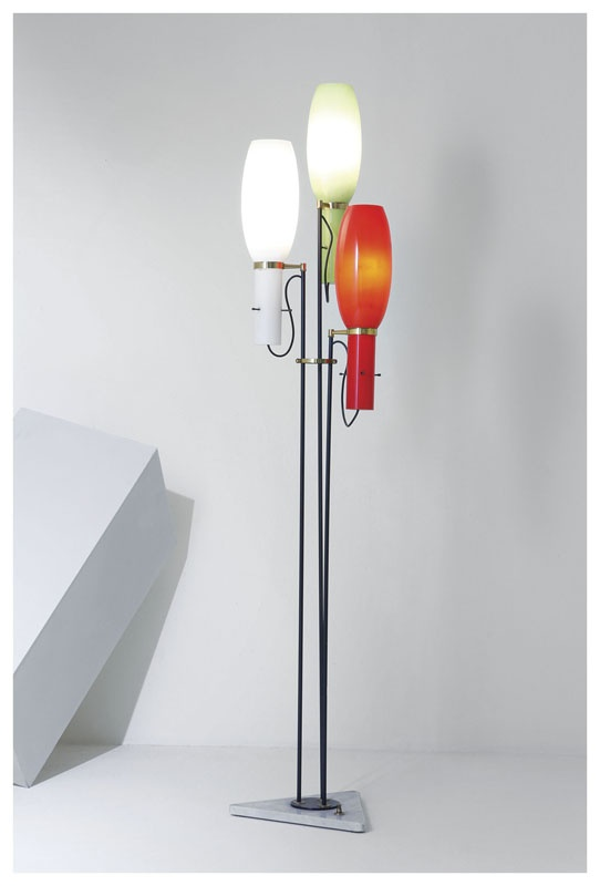 Stilnovo standing lamp with marble base Italy