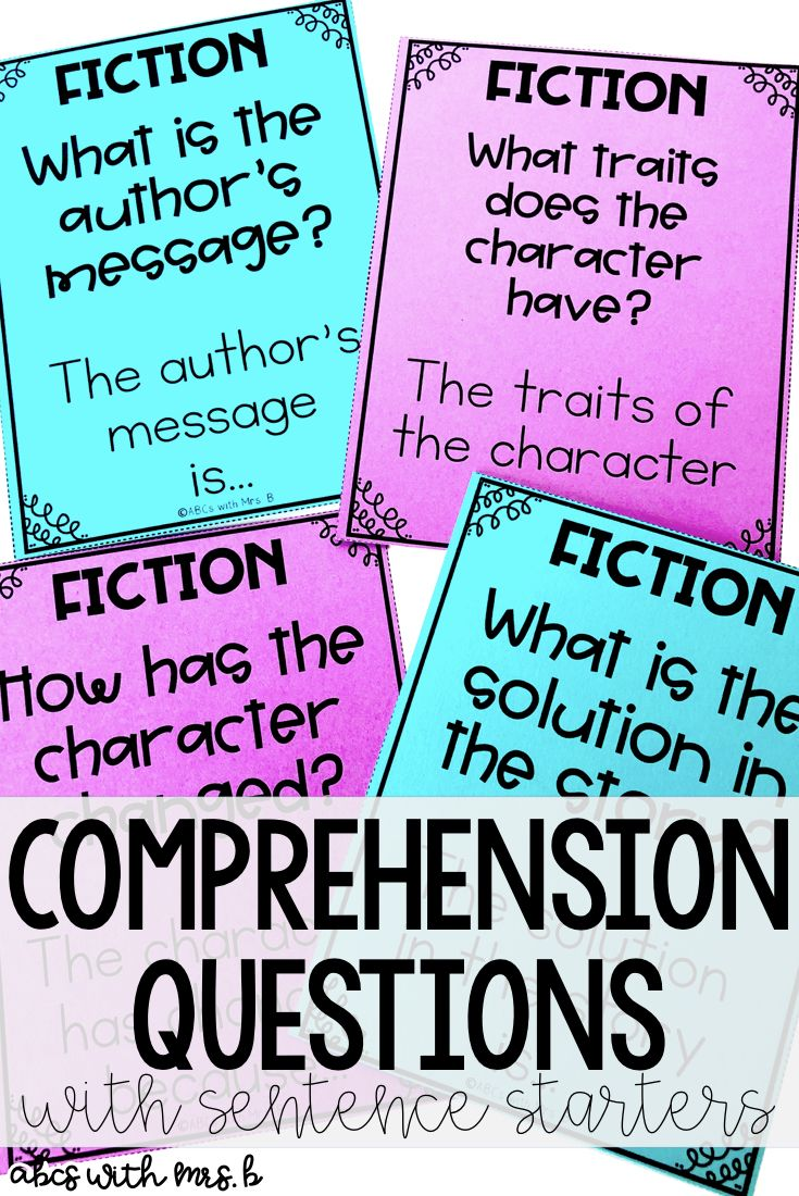 I use these comprehension questions every day during my guided reading groups. The sentence starters are so helpful and work with any book! I included fiction and nonfiction questions to help student dig deeper into texts!