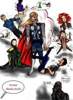 When Thor come for help to Tony Stark (in color) by Nadia-AsViv