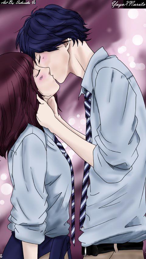 Kiss Futaba & Kou - Ao haru ride