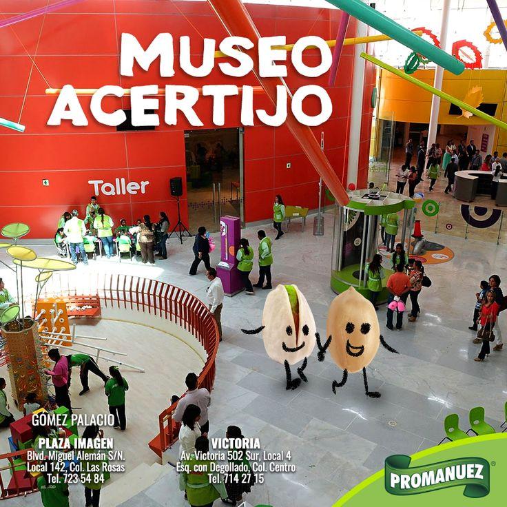 Recuerda que puedes visitar el Museo Acertijo con la compañía de #Promanuez ubicado en el parque La Esperanza de Gómez Palacio; un espacio al que pueden asistir las familias para disfrutar de exhibiciones y espacios de distracción y convivencia. http://www.promanuez.com.mx/productos