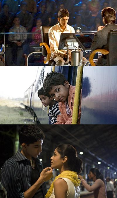 Dev Patel and Freida Pinto - Slumdog Millionaire (2008) directed by Danny Boyle and Loveleen Tandan