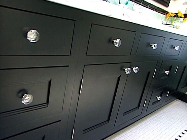 Install Cabinets in an Art Deco Bathroom : How-To : DIY Network