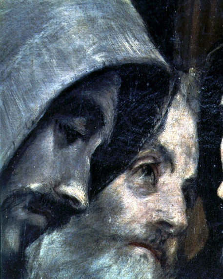 El Greco (1541-1614), The Burial of Count Orgaz, from a legend of 1323, detail of the franciscans, 1586-88 (oil on canvas)