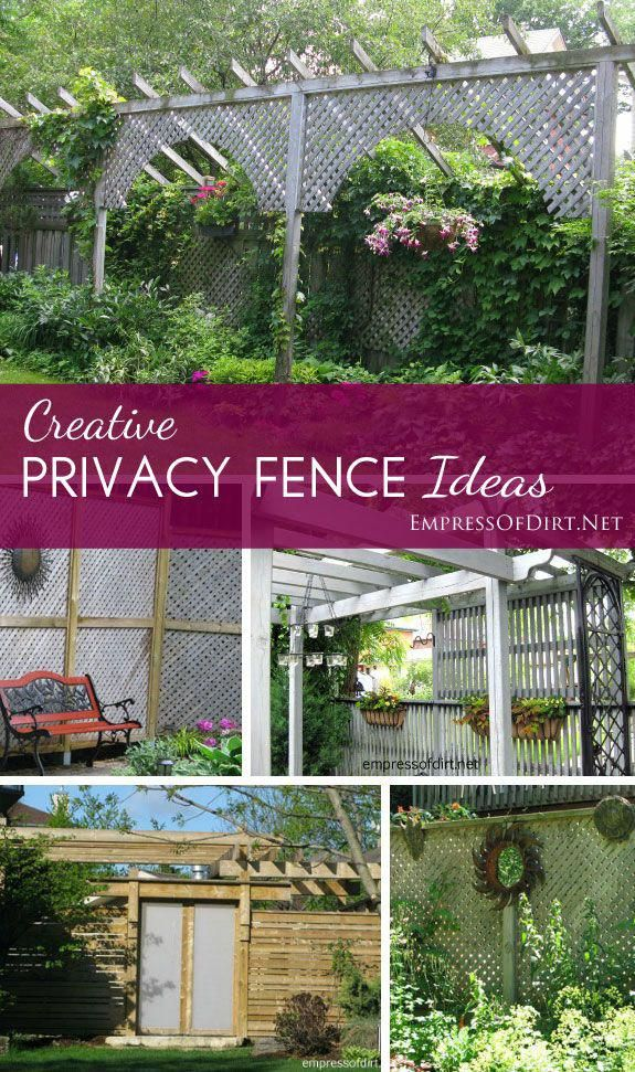 Privacy fence ideas - creative ways to use fences and screens to