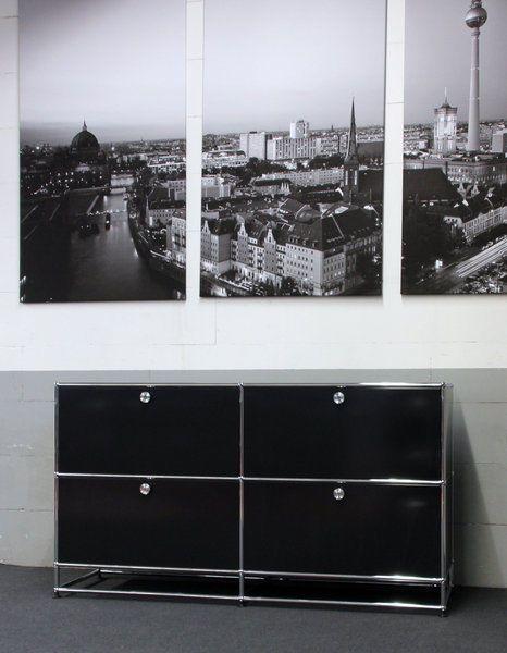 USM Haller Sideboard 4 x Klappen / mit Sockel in Büro & Schreibwaren, Büromöbel, Schränke & Regale | eBay