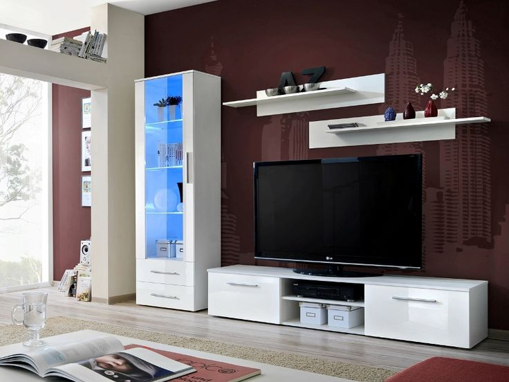 montrose 4 entertainment wall units tv unit storage modern wall units living room - Designer Wall Units For Living Room