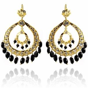Jasrai Earrings #jewelry #fashion #bollywood  #designer #earrings #hoops #golden #black