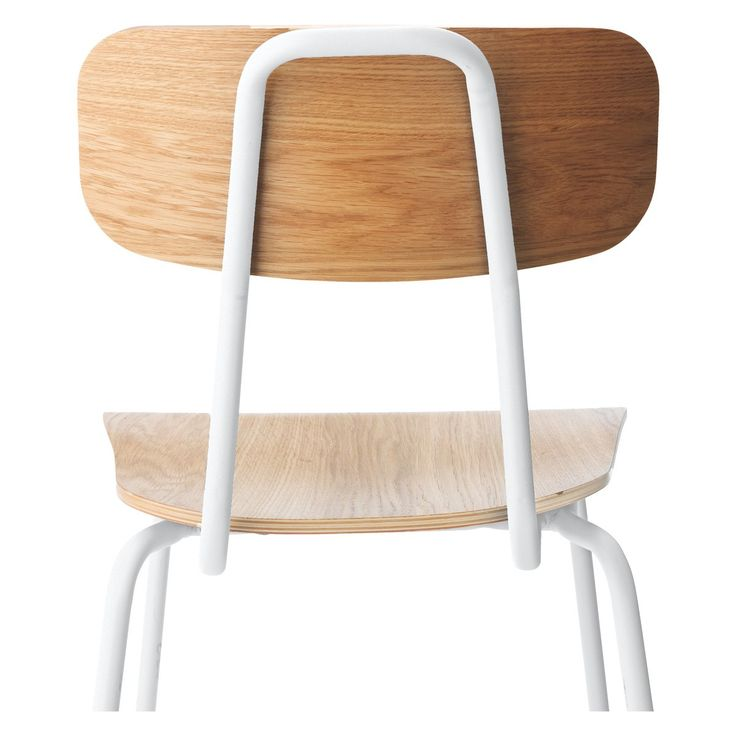 HESTER White Stackable Dining Chair