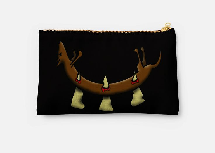"""Put your make up in this """"Dead Dog (spikes) design studio pouch."""