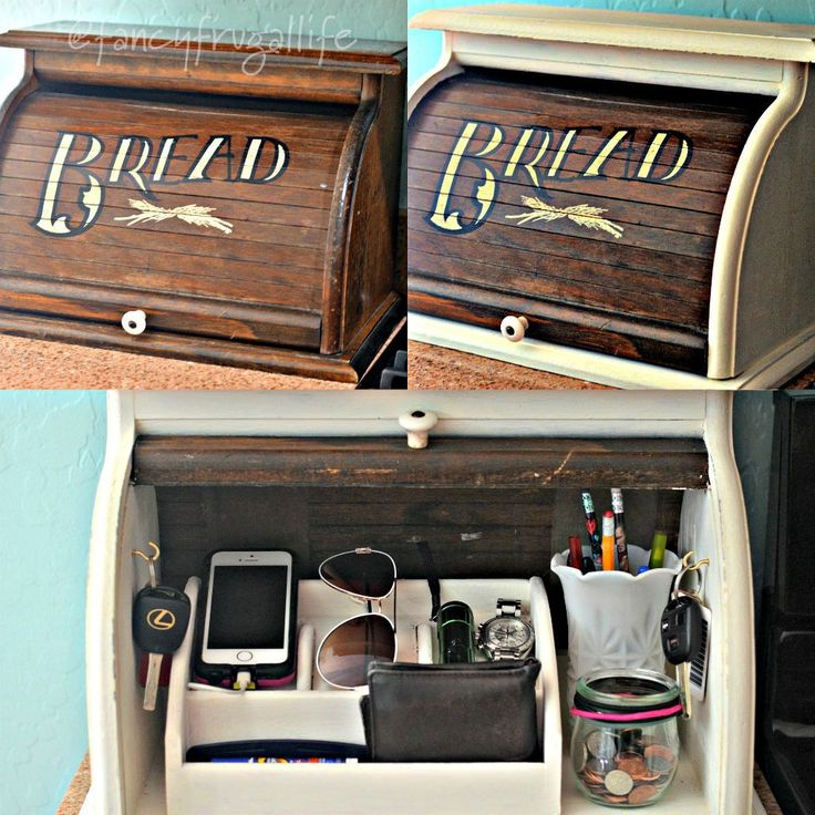 vintage breadbox to cell phone charging station fancy frugal life fun way to hide keys - Iphone Charging Station