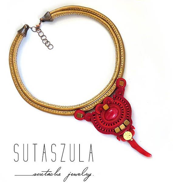 Natural coral necklace red goled necklace jadeit stone pendant