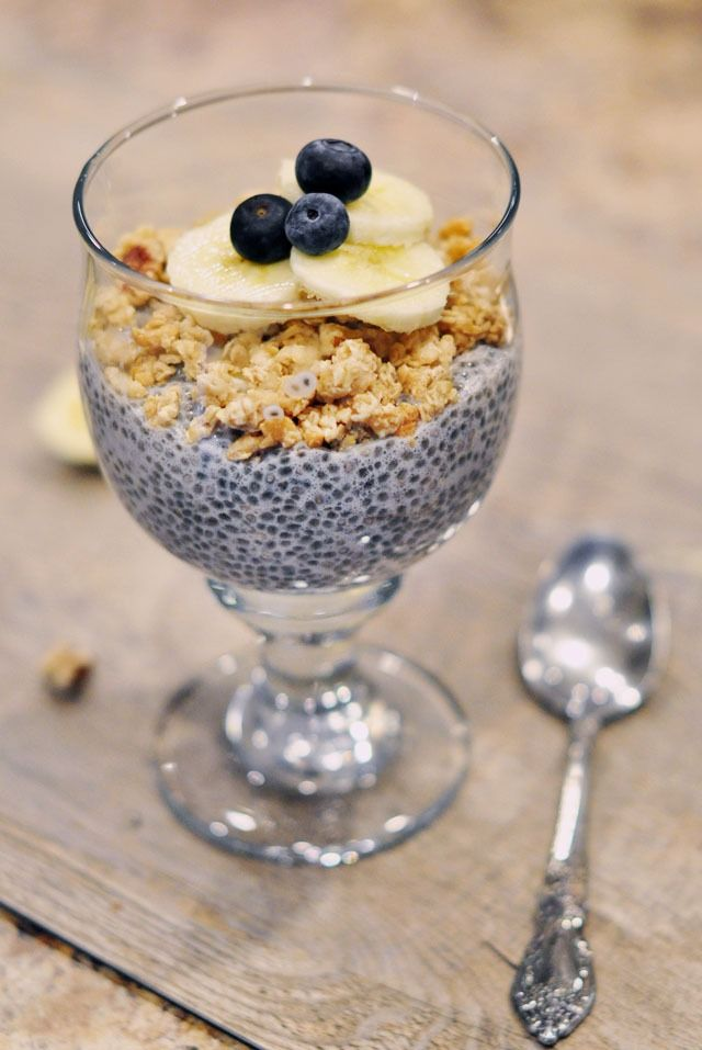 Vanilla Chia Seed Pudding - Healthier snack choice before or after a workout. Also a healthy breakfast.