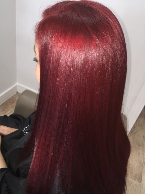 Beautiful red done by Cindy.