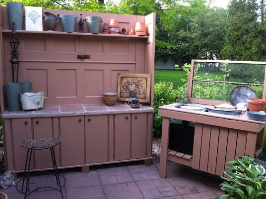 Ann's Lady's Lounge, Part 2   Creating a garden room of your own.  The finished potting area