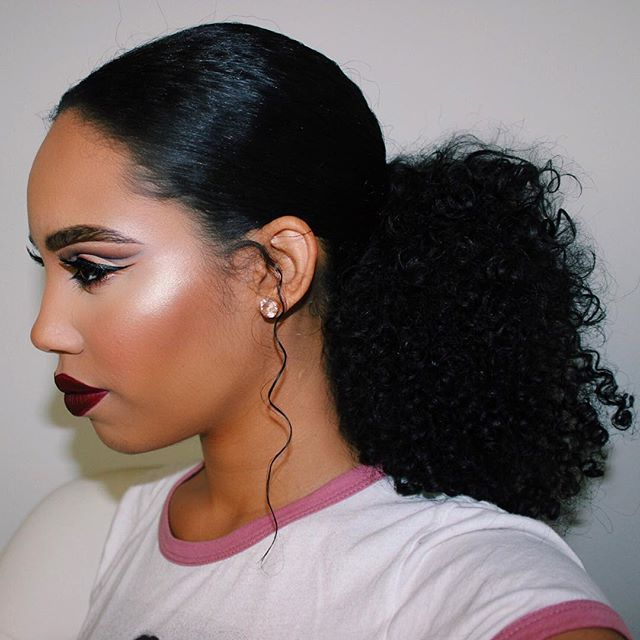 Pin By Samantha Stombaugh On Natural Black Hairstyles Ponytail Styles Natural Hair Styles Curly Hair Styles Naturally