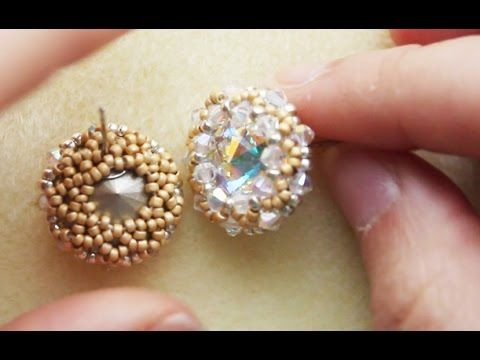 Designs by Jewelea:Shiny Avior Beaded Stud/Post Earrings Jewellery with ...