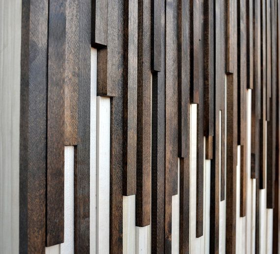 Rustic Wood Wall Art Wood Sculpture Wall Installation