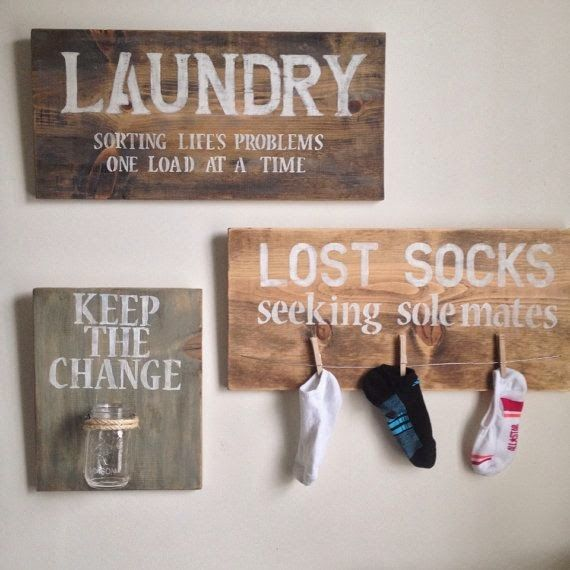 How cute is this laundry organisation board - need one of these for my house - love the lost socks peg - too cute