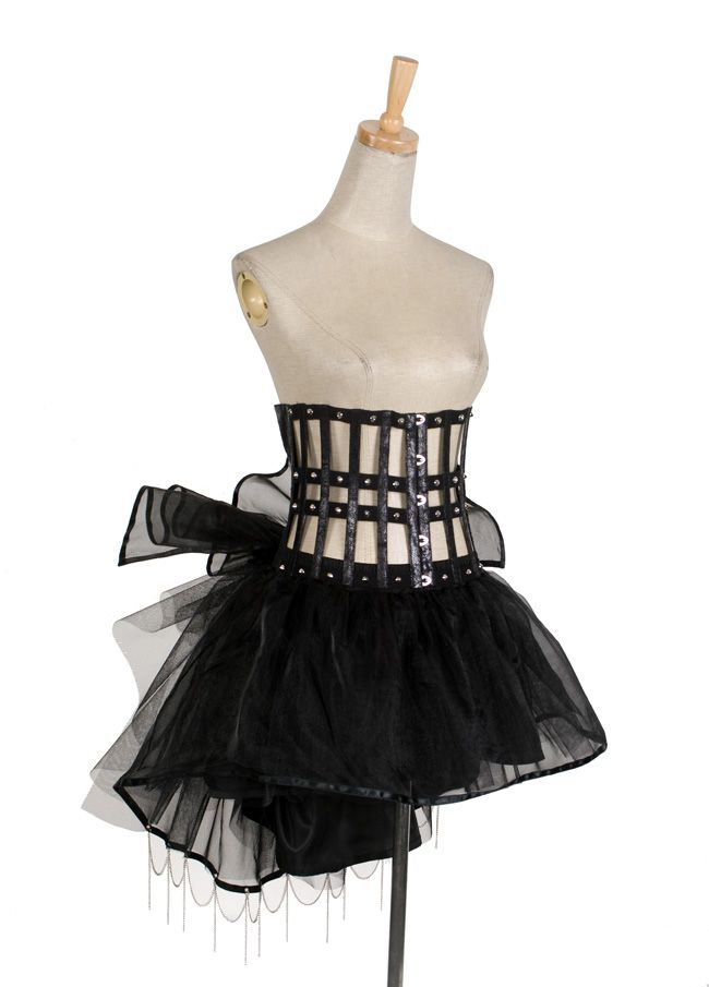 Gothic Soft woth yarn Bustle Skirt Q-157 From PUNKRAVE