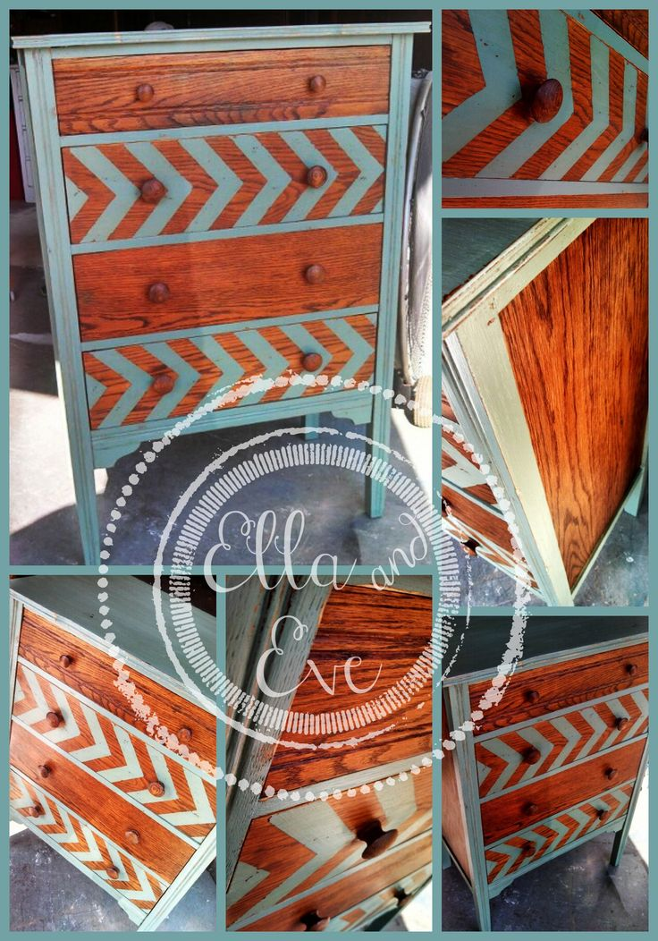 Ella U0026 Eveu0027s Creativity At Its Finest! LOVE The Wood And Color With The  Chevron