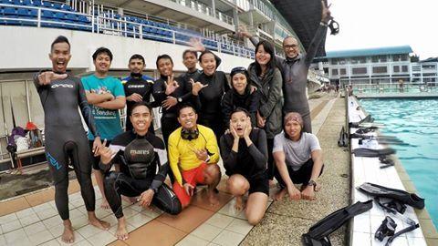 Kolam renang basecamp: Universitas Pendidikan Indonesia. COME JOIN WITH US! Facebook:  Bandung Freediving -- Twitter: @FreediveBDG